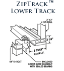 ZipTrack Lower Track