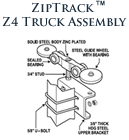 ZipTrack Z4 Truck Assembly